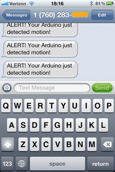 Arduino burglar alarm (can be done with a raspberry too)