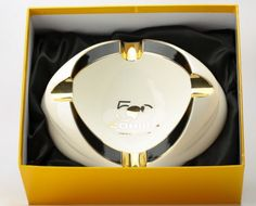 Cohiba 50 Aniversario White Oval Cigar Ashtray