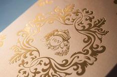 Lasercut Gold Foil Letterpress Wedding Invitations Atelier Isabey3 550x365 Rebecca + Varuns Lasercut and Gold Foil Wedding Invitations