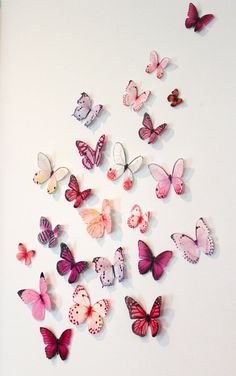 Organza Butterfly Wall Decoration, 20 Wedding Butterfly Decorations, Wall Decor, Nursery Decoration, Shower Party Decoration. $30.00, via Etsy.