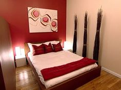 Red Accent Wall With Tan A Must Not For Bedroom Though
