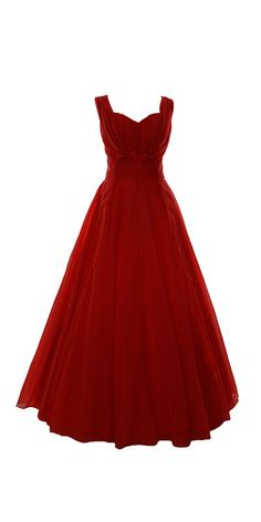 1950s Coral Chiffon Ballgown | Gently Worn Vintage Clothing