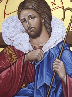 Framed Prints — The Studio of John the Baptist Christian Artwork, Christian Images, Religious Icons, Religious Art, Christ The Good Shepherd, Good Shepard, Holy Art, Greek Icons, Jesus Art