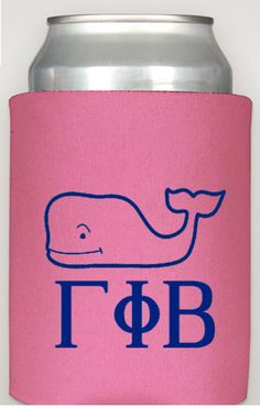 Gamma Phi Beta Coozie from Elle-o-font, $7