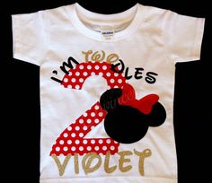 Im Twodles Birthday Shirt Minnie Mouse Party Second Twoodles 2nd Personalized Red 2 Year Old