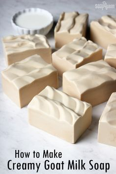 Creamy Goat Milk Soap Recipe #soapmakingbusinessskincare