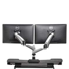 Each standing desk monitor arm can handle up to 19.8 lbs, and features a tension adjustment for effortless movement. Our monitor arms are easy to install, and work seamlessly with your VARIDESK sit/stand desk.