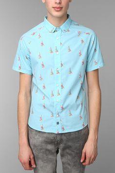 Button Up T Shirts Mens