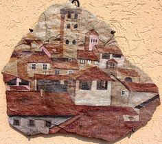 LUCCA (Toscana) Italy - painting stone