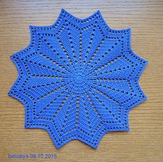 Ravelry: Crystals pattern by Fujiko Takagi (高木 藤子) Free Crochet Doily Patterns, Crochet Mat, Crochet Doily Diagram, Crochet Dollies, Crochet Circles, Crochet Dishcloths, Thread Crochet, Crochet Designs, Crochet Crafts
