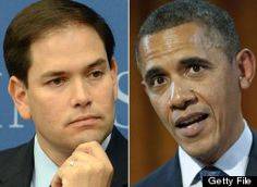 """05/20/2012 -- Marco Rubio: Obama Is Most """"Divisive Figure In Modern American History""""    BLACK AGAINST WHITE  BLACK AGAINST WHITE-HISPANIC  POOR AGAINST RICH  EVERYONE AGAINST CORPORATION"""