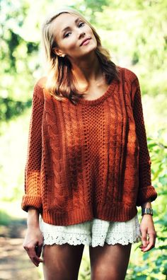Knit And Lace Outfit by Petra Karlsson Autumn Winter Fashion, Spring Summer Fashion, Turtleneck T Shirt, Lace Outfit, Look At You, Sweater Weather, Comfy Sweater, Passion For Fashion, Dress To Impress