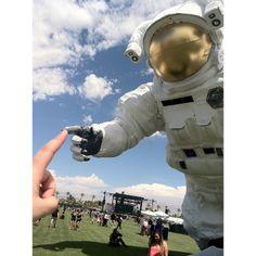Hey there Coachella Astronaut  #poetickinetics #coachellaastronaut www.PoeticKinetics.com