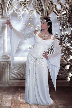 Artesia mittelalterliche Hochzeit Kleid Fantasy Korsett Spitze und Mesh Gown Custom