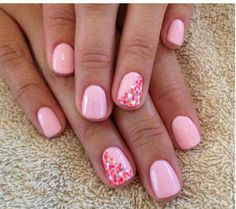Pink with speckles