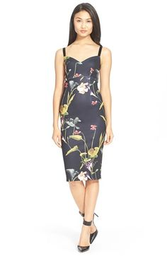 Ted Baker London 'Lisa' Floral Print BodyCon Dress available at Nordstrom