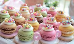 Turn pretty Macarons into these stunning Tea Cups.  They'll be the star of any special party table!