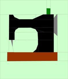 Sewing Machine Paper Pieced Block | Craftsy