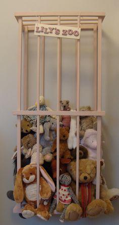 cute idea for stuffed animals storage