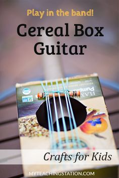 Are your children full of energy, running around looking for a creative and fun activity to do? Have a blast making this simple cereal box guitar and let them play in the band for a day! You can even turn this craft into a musical event and let them perform a concert at the end - just don't forget to dress them for the part and make sure you have your camera ready!