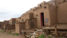 Taos Pueblo. The multi-storied adobe buildings have been continuously inhabited for over 1000 years. We welcome you to visit our village when you travel to Northern New Mexico.