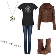 Katniss Everdeen inspired outfit, created by me:)