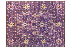 "8'1""x10'1"" Sari Scarlett Rug, Violet, F.J. Kashanian, hand-knotted, made of wool, made in India, 1/4"" pile height, 8'1""x10'1"", $3,895"