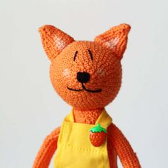 Crocheted Amigurumi Fox / Amigurami soft toy / gift