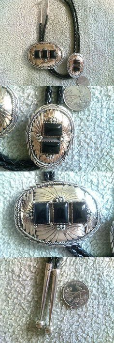 Bolo Ties 10292: Goldfilled Over Sterling Silver Bolo Tie And Buckle Set Black Onyx Stones -> BUY IT NOW ONLY: $548.5 on eBay!