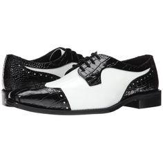 Make the most out of your outfit with the fashion forward designs of Stacy Adams. Two-tone leather upper with an embossed crocodile skin effect. Lace up front …