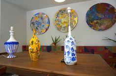 Prototipos en cerámica para lámparas en el nuevo Espacio QBOX Madrid http://qboximax.com. Ignacio Klindworth Junio 2016.