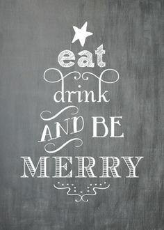 Christmas chalkboard - Be Merry