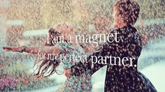 You can use the law of attraction to attract the perfect partner | Watch this lovely affirmation video #love #lawofattraction #relationships