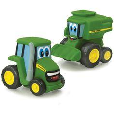 John Deere Johnny Tractor Set with  Johnny and Corey Combine ( TBEK37720B2 )
