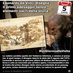 5 agosto 1473: Leonardo da Vinci realizza il primo disegno della storia di un paesaggio puro  Immaginate di disegnare la natura. Oggi è facile ma un tempo sembrava inimmaginabile darle il ruolo principale in un quadro in un disegno in una rappresentazione artistica. Essa era lo sfondo o poteva essere ad uso e consumo del soggetto principale. Almeno nellOccidente cristiano. Leonardo da Vinci per caso o per volontà con questo disegno rompe questa tradizione. La veduta sarebbe quella del…