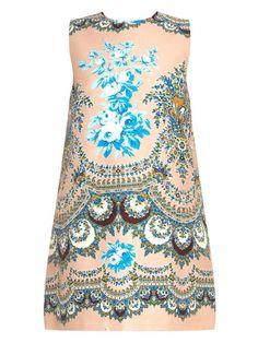 MSGM Floral-print Cotton Dress