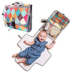 Detachable Portable Changing Pad Premium Quality Travel Station Diaper Baby Clutch Kit Skip Hop Changing Pad Mesh and Zippered Pockets Entirely Padded Wipeable Mat