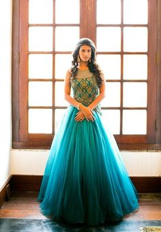Best New Year Indo Western gown collection for party – Indo western Fusion Look Indian Wedding Gowns, Indian Gowns, Indian Attire, Pakistani Dresses, Indian Bridal, Indian Wear, Indian Outfits, Wedding Dress, Indian Reception Dress