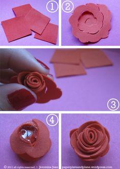 No-fuss foam roses from Jeromina Juan