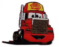 MACK Super-Liner Superliner Truck carrying Lightning McQueen red race car in Cars Pixar Disney Movie Embroidered Iron On / Sew On Patch Disney http://smile.amazon.com/dp/B006DNVMGE/ref=cm_sw_r_pi_dp_2wGMtb0TJJZDVJ7R