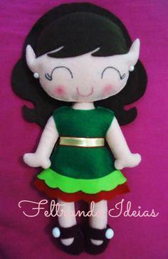 pattern felt doll