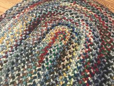 Vintage Braided Rug, Oval Shaped Door Mat Rug, Multi Colored Cotton Accent Rug, 34 x Rustic Farmhouse, Country Cottage Home Decor – Braided Rugs Diy Braids, Braided Rugs, Cottage Homes, Accent Rugs, Woven Rug, Rustic Farmhouse, Sewing Projects, Handmade, Cotton