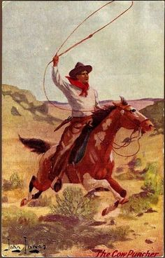 Vintage Post Card Artist Signed Western Cowboy with Horse