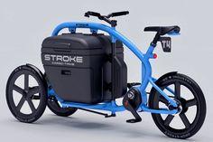 Daga's Stroke Trike Offers Stable Cargo Transport Bike Cargo Trailer, Cargo Trailers, Cargo Bike, Build A Camper Van, Yatch Boat, Trike Bicycle, Vw Trike, Cargo Transport, Push Bikes