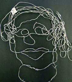 Use Your Coloured Pencils: Contour Line Self Portraits