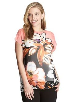 CHAUS  Floral Print Woven Blouse