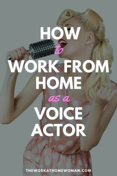 How to Work From Home as a Voice Actor Have you been told you have a pleasant voice? Then maybe voice acting is your calling. Read on to find out if this work-at-home career is right for you! Earn Money From Home, Way To Make Money, Voice Acting, The Voice, Web Design, Acting Tips, Singing Tips, Singing Lessons, E-mail Marketing