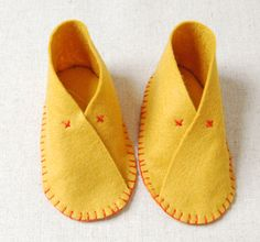 Molly's Sketchbook: Felt Baby Shoes - The Purl Bee - Knitting Crochet Sewing Embroidery Crafts Patterns and Ideas!
