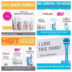 Lots of great press about Rodan & Fields by beauty editors from magazines like Self, Allure & InStyle. Message me to find out what the buzz is about!