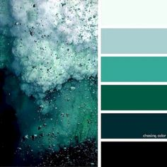 Shades Of An Ocean Storm whole house color palette paint interior Nature Color Palette, Green Colour Palette, Green Colors, Colours, Blue Green, Color Schemes Colour Palettes, Palette Art, Green Color Schemes, Color Palate